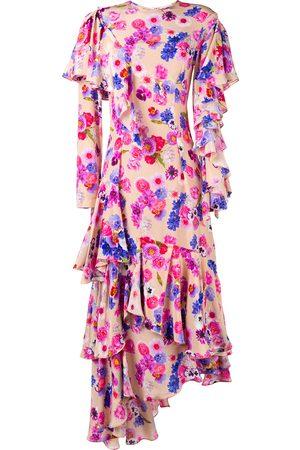Natasha Zinko Asymmetric floral dress - Nude