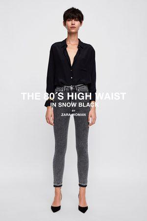 Zara HIGH-WAIST-JEANS ZW PREMIUM 80'S IN SNOW BLACK