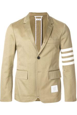 Thom Browne Classic Unconstructed 4-Bar Stripe Sport Coat - Nude