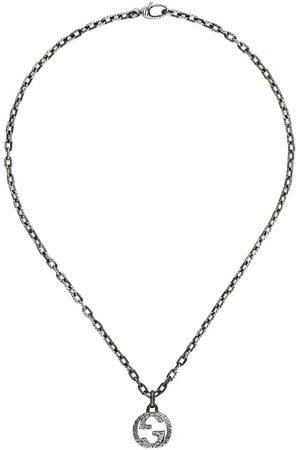 Gucci Halskette mit Logo-Anhänger - Metallisch