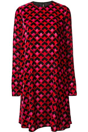 Rochas Kleid mit langen Ärmeln