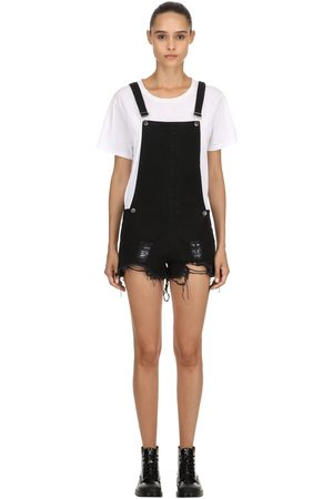 The People Vs JOAN DESTROYED SHORT OVERALLS
