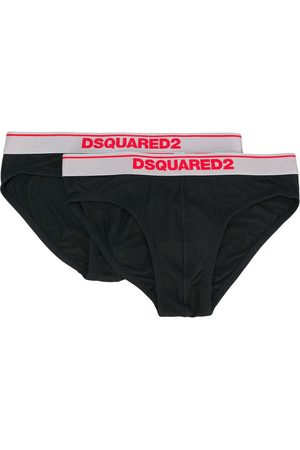 Dsquared2 2er-Set Slips mit Logo-Bund