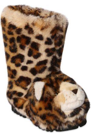 """Dolce & Gabbana Mädchen Stiefel - Stiefel Aus Plüsch """"leopard"""""""