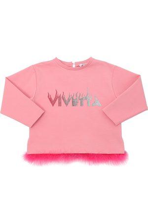 VIVETTA Sweatshirt Aus Milanojersey Mit Federn