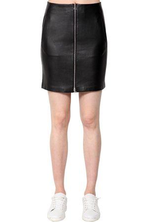 RAG&BONE Heidi Leather Mini Skirt