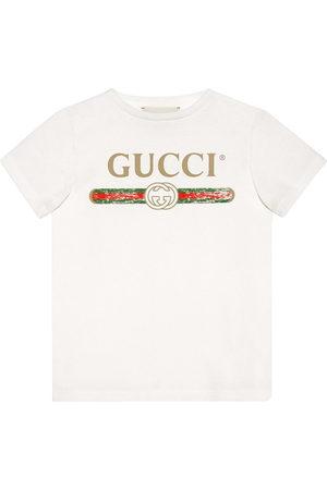 Gucci Children's cotton T-shirt with Gucci logo