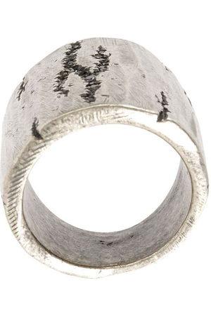 TOBIAS WISTISEN Ring mit unbearbeiteten Kanten - Metallisch