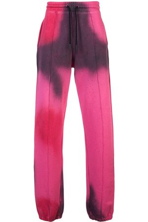 OFF-WHITE Spray paint track pants - & Lila