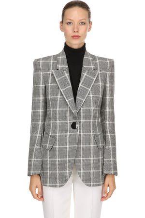 PETAR PETROV Blazer Aus Cool Wool Mit Karos