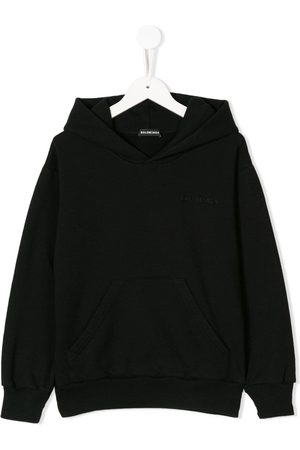 Balenciaga Kids EMBROIDERED CLASSIC FELT HOODIE