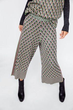 Zara METALLIC THREAD JACQUARD CULOTTES