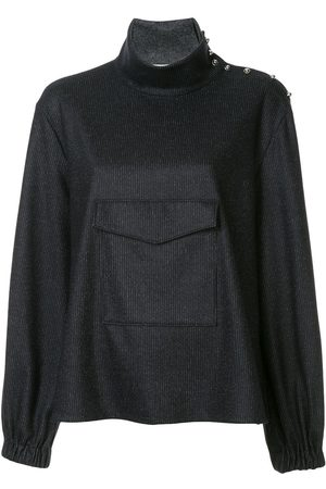 tibi Pullover mit weitem Stehkragen