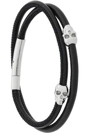 NORTHSKULL Herren Armbänder - Wickelarmband mit Totenköpfen