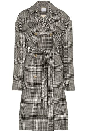 MAGDA BUTRYM Plaid double-breasted belted coat