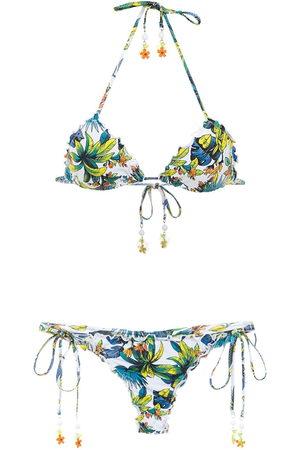 AMIR SLAMA Bikini mit Print