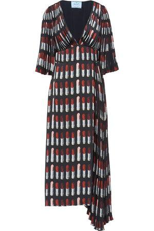 Prada Kleid mit Lippenstift-Print