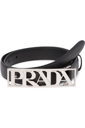 Prada Metal logo buckle belt