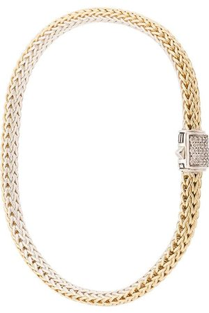 John Hardy 18kt Gelbgoldarmband mit Diamanten