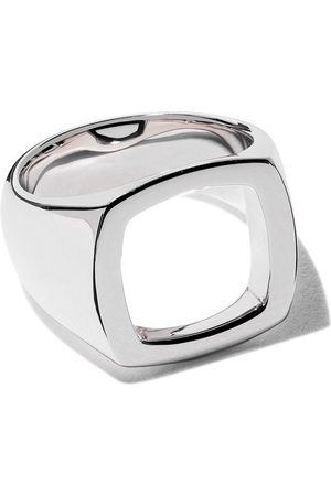 TOM WOOD Ring mit rechteckigem Design - SILVER