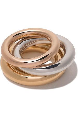 CHARLOTTE CHESNAIS Set aus 'Brahma' Ringen - Metallisch