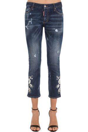 Dsquared2 Jeans Aus Baumwolldenim Mit Spiegeln