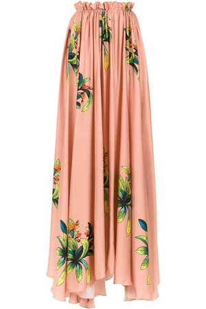 AMIR SLAMA Long silk skirt - Nude