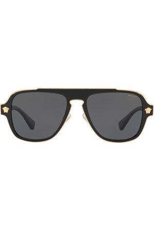 VERSACE Pilotenbrille mit eckigen Gläsern