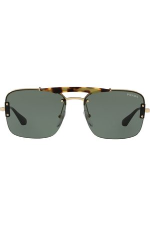 Prada Sonnenbrille mit eckigen Gläsern