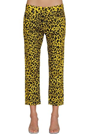 R13 Damen Hosen & Jeans - Joey Leopard Printed Cotton Pants