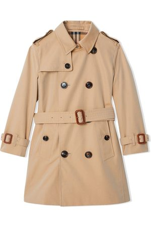 Burberry Cotton Gabardine Trench Coat - Nude