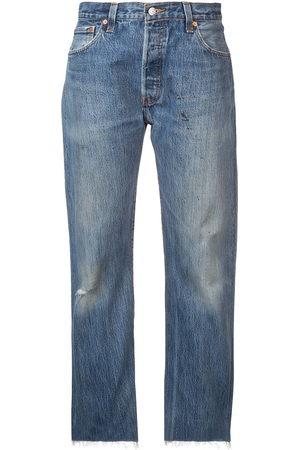 RE/DONE Damen Baggy & Boyfriend - Ausgeblichene Boyfriend-Jeans