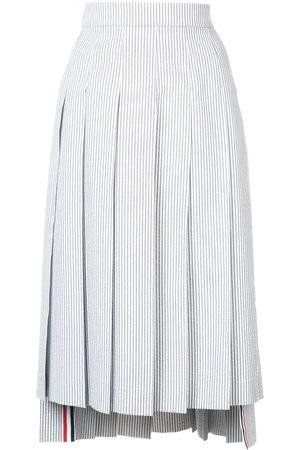 Thom Browne Striped midi pleated skirt