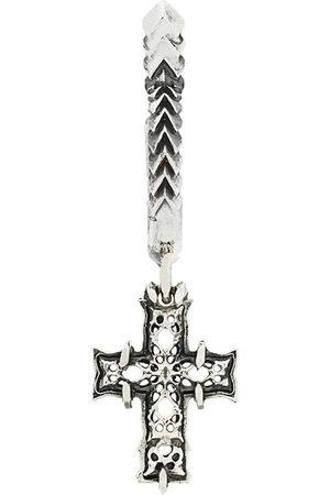 EMANUELE BICOCCHI Silberkreole mit Kreuzanhänger - Metallisch
