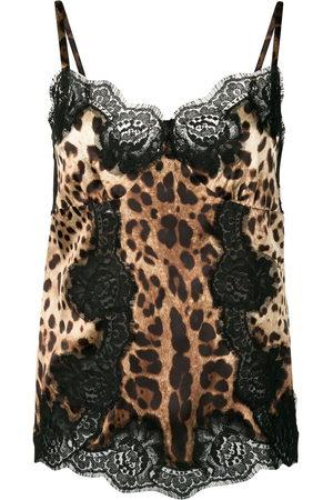 Dolce & Gabbana Damen Tanktops - Leopard-print camisole top