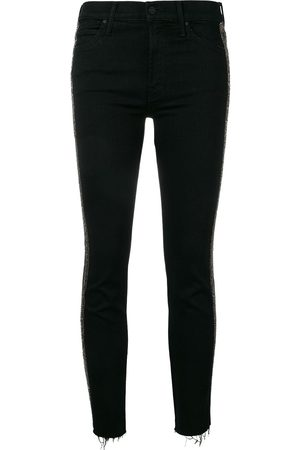 Mother Damen Slim & Skinny Hosen - The Rascal cropped trousers