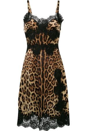 Dolce & Gabbana Midikleid mit Leoparden-Print