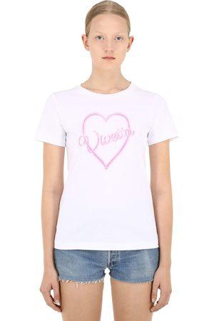 VIVETTA T-shirt Aus Baumwolle Mit Logoherz