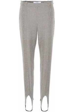 Givenchy Damen Leggings & Treggings - Karierte Steghose aus Wolle