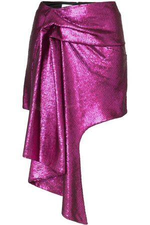 HALPERN Asymmetric hem mini skirt - Lila
