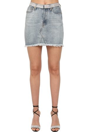 ALEXANDRE VAUTHIER Damen Jeansröcke - Crystal Embellished Cotton Denim Skirt