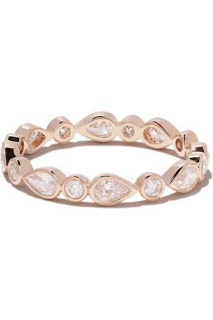 De Beers 18kt 'Petal' Rotgoldring mit Diamanten - Rose