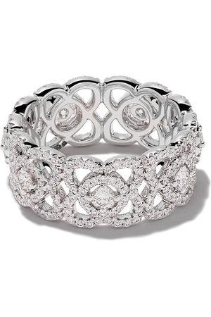 De Beers 18kt 'Enchanted Lotus' Weißgoldring mit Diamanten - White