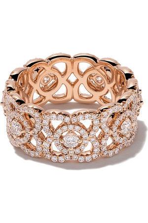 De Beers 18kt 'Enchanted Lotus' Weißgoldring mit Diamanten - Rose