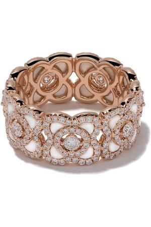 De Beers 18kt 'Enchanted Lotus' Rotgoldring mit Diamanten - Rose