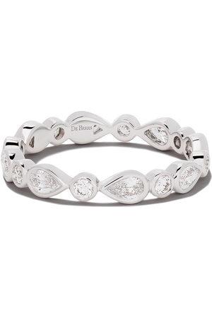 De Beers 18kt 'Petal' Weißgoldring mit Diamanten - White