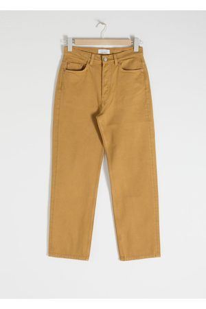 & OTHER STORIES Straight Mid Rise Jeans - Yellow