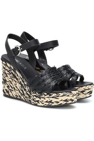 Prada Espadrilles-Sandalen aus Bast