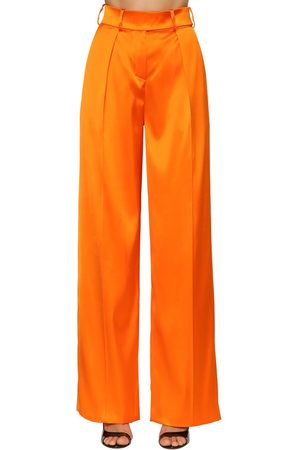 ALEXANDRE VAUTHIER High Waist Stretch Satin Pants