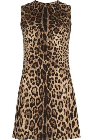 Dolce & Gabbana Minikleid mit Leopardenmuster